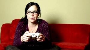 stock-footage-girl-playing-video-games-serious