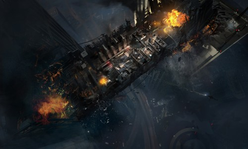 Call of Duty Ghosts_Free Fall_Descent_Overhead