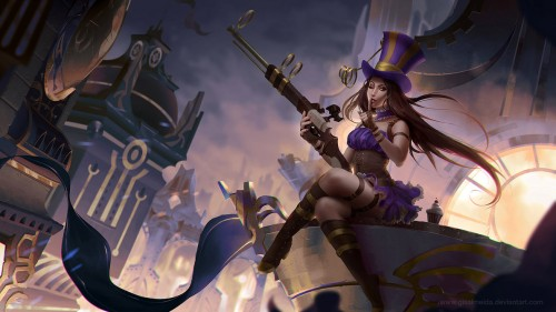 league_of_legends__caitlyn_by_gisalmeida-d6rxmoe