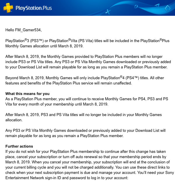 No more free PS3 and PS Vita games in 2019
